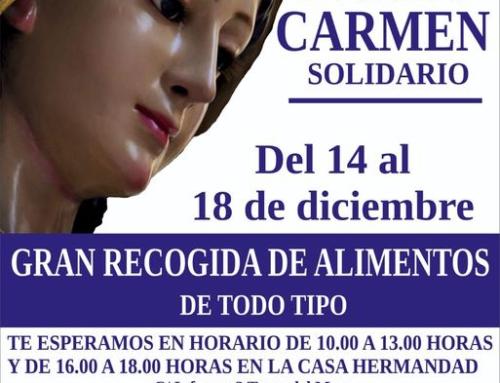 RECOGIDA DE ALIMENTOS CARMEN SOLIDARIO 2020