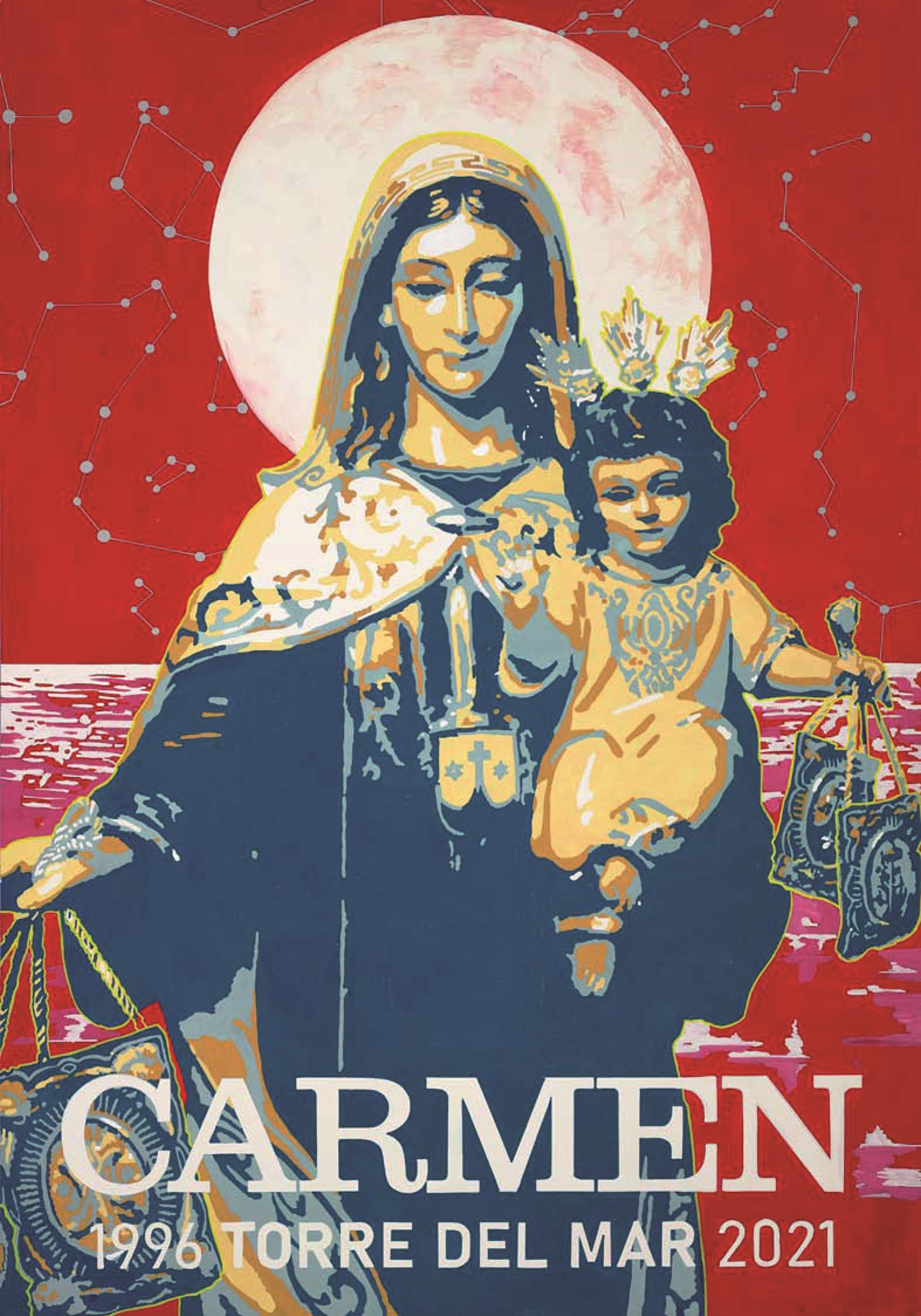Cartel del XXV Aniversario como Hermandad Canónica
