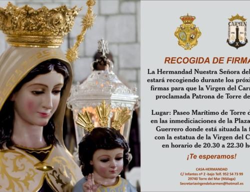 CAMPAÑA DE RECOGIDA DE FIRMAS PATRONAZGO OFICIAL